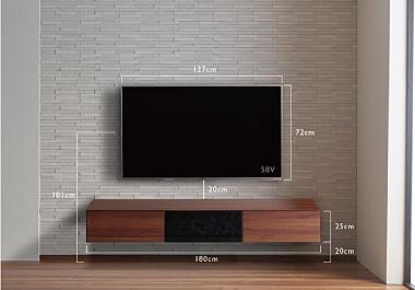 フロートテレビボードとテレビの取付位置について
